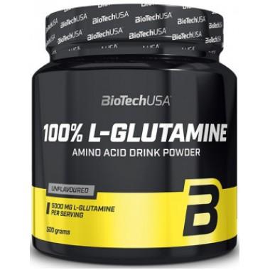 Biotech USA 100% L-Glutamine 500 грамм, чистый глютамин