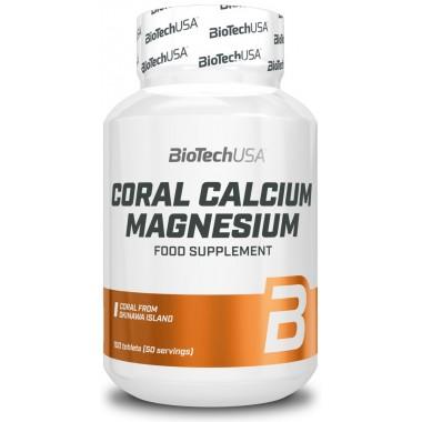 Biotech USA Coral Calcium Magnesium 100 таблеток, кальцій та магній у пропорції 2:1