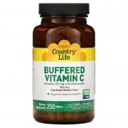 Country Life Buffered Vitamin C 500 mg 250 tabs