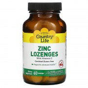 Country Life Zinc With Vitamin C 60 lozenges