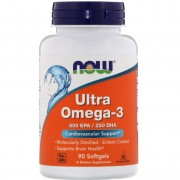 Now Foods Ultra Omega-3 500EPA/250DHA 90 softgels