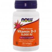 Now Foods Vitamin D 5000 IU 120 softgels