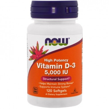 Now Foods Vitamin D 120 капсул, вітамін д
