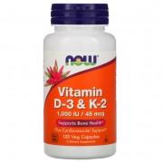 Now Foods Vitamin D3 & K2 120 caps