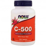 Now Foods Vitamin C-500 With Rose Hips 250 tabs