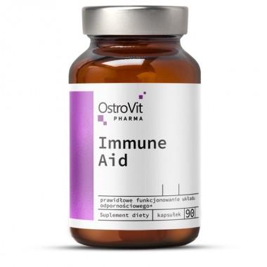 OstroVit Pharma Immune Aid 90 капсул, комплекс природних імуномодулюючих речовин