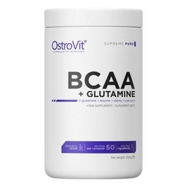 OstroVit BCAA + Glutamine 500 грамм, бцаа+глютамин